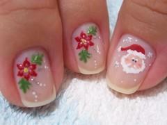 Noel (Chá de Unhas) Tags: natal stars nail papainoel unhasdecorada floresnatalinas