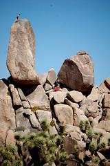 Top of the World (PorchPhoto) Tags: california park camping southwest nationalpark rocks desert ryan joshuatree dry climbing rockclimbing extremesport mojavedesert freeclimbing freeclimb