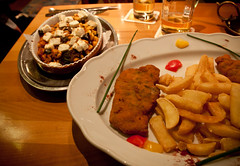 Schnitzel & Spätzle from Bierkrug - Heidelberg, Germany (ChrisGoldNY) Tags: travel food dinner germany deutschland europa europe european forsale restaurants eu frenchfries viajes fries german posters albumcover alemania plates bookcover heidelberg dishes altstadt oldtown vacations bookcovers schnitzel albumcovers eater aleman deutsche consumerist spätzle bierkrug spaetzel spatzel chrisgoldny chrisgoldberg chrisgold chrisgoldphoto chrisgoldphotos