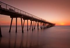 Hermosa Pier October Sunset (byron bauer) Tags: ocean california sunset sea usa beach water pier long exposure pacific dusk calm timeexposure hermosa hermosabeach october13 byronbauer 2012scottkelbys5thannualworldwidephotowalk hermosabeachcaliforniapierstreet