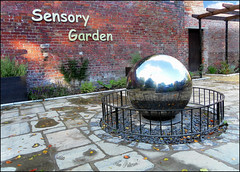 CALDERSTONES PARK : THE ORB...A WATER FEATURE IN THE NEW GARDEN. (tommypatto : Libert, galit, fraternit) Tags: gardens liverpool parks publicart calderstonespark sensorygardens