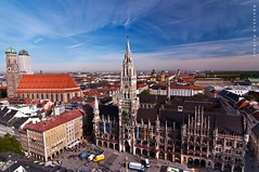 Marienplatz,heart of the city of Munich (puthoOr photOgraphy) Tags: germany munich mnchen bavaria wide dk frauenkirche marienplatz stmaryssquare neuesrathaus lightroom cokinfilter mari