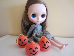 Emmaline is excited for Halloween!
