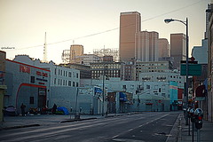 Skid Row (LeCachacs) Tags: california street art architecture la losangeles downtown homeless row skid