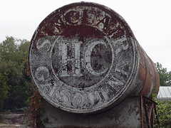 Sinclair H-C Above ground gasoline storage tank (lionel682) Tags: above abandoned tank c south rusty ground storage chester h rusted carolina rusting gasoline hc sinclair