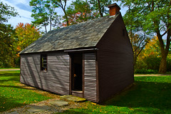 Colonial Schoolhouse (SunnyDazzled) Tags: school autumn trees history leaves museum colonial maine newengland 1745 shoolhouse oldyork elizabethperkins