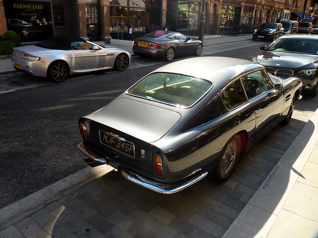 london classic car silver grey martin s british v8 aston spotting vantage combo roadster v12 vanquish db6 superleggera mjf345f