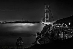The Under Glow  **EXPLORE** (Andrew Louie Photography) Tags: california bridge lighthouse white black coffee fog point flow golden gate san francisco glow marin under jazz vista sausalito