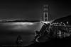 The Under Glow  **EXPLORE** (Andrew Louie Photography) Tags: california bridge lighthouse white black coffee fog point flow golden gate san francisco glow marin under jazz vista sausalito