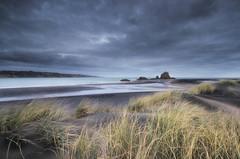 West Coast Mood (Nick Twyford) Tags: longexposure sea newzealand sky seascape colour beach clouds blacksand lowlight nikon rocks wideangle auckland northisland westcoast whatipu leefilters 1024mm d7000 lee06gndhard availableingettyimages
