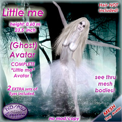 ND/MD Little me - Ghost avatar (Alea Lamont) Tags: party white halloween girl lady md mesh little avatar ghost tiny nd transparent ndmd