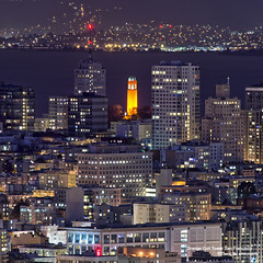 Orange Coit Tower San Francisco (davidyuweb) Tags: sanfrancisco california orange usa tower san francisco coit sfist orangeoctober