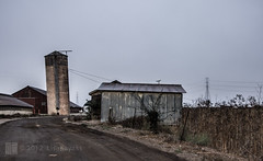 crooked (kayakeverywhere) Tags: fog farming silo sonomacounty leaning corrugated stillworking sonomacountylandtrust