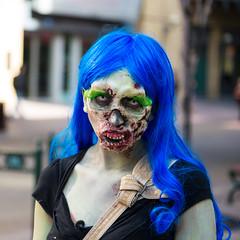 Zombie (James.Ireland) Tags: blue canada green eye hair dead eyes downtown eyelashes skin zombie iso400 awesome makeup alberta zombiewalk 2012calgary