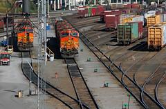 Switchyards (Nancy D. Regan) Tags: tracks bnsf railcars locomotives rollingstock msh1012 msh101212