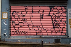 by Conie (lepublicnme) Tags: november streetart paris france graffiti shutter pal 2012 coni cony conie palcrew