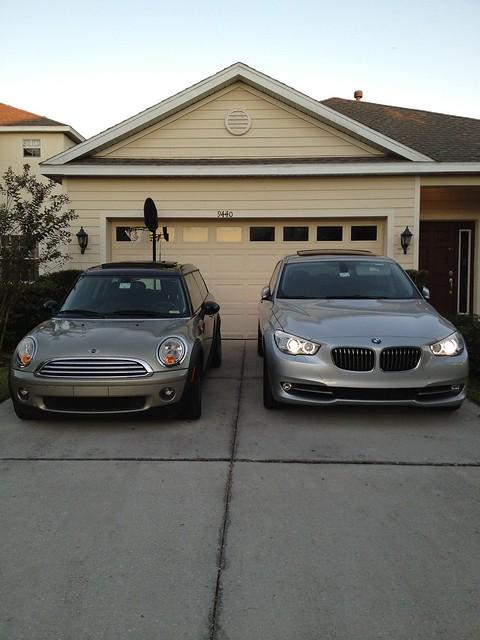 new silver tampa wagon concrete beige champagne mini f10 driveway cooper bmw gran gt turismo 535 clubman