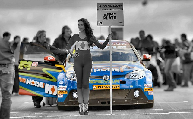 British Touring Cars Grid Girl, Jason Palto