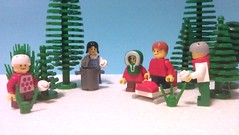 Kids playing in snow (mallardine) Tags: winter snow kids play lego snowball legoland sledge uksnow brickford