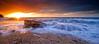 Ciclogénesis al Sol (Pedro J. Zamora) Tags: sunrise landscape paisaje amanecer lugares tormenta rocas nationalgeographic calpe salidadelsol marmediterraneo marineras a850 calabaladrar motivoprincipal pedrojzamorablog alpha850 tipodeluz pedrojzamora degradadoinversohitech inversohitech dgn8