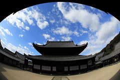 Zen Temple (Teruhide Tomori) Tags: building japan architecture construction kyoto fisheye zen    uji  woodenarchitecture manpukujitemple