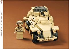 SdKfz_222_08 (Captain Eugene) Tags: tank lego wwii sd ww2 222 dak kfz sdkfz afrikakorps brickarms sdkfz222 legotank legomilitary brickmania panzersphwagen