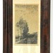 114. Antique Engraving in Period Frame