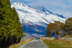 Getting Closer To Paradise (Lathkill96) Tags: mountains snow scenery landscape vanishingroad leadlines intothedistance snowcovered snowcoveredmountains rural paradise paradisesouthisland paradisenewzealand