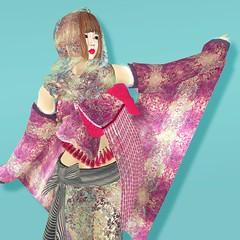 momozukin (fawn(ayame ame)) Tags: kokorotayori kimono japan secondlife