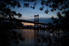 Dusk over Triborough Bridge (Rafakoy) Tags: dusk night river water queens newyork digital dark reflections bridge triboroughbridge robertfkennedybridge eastriver astoria sky lights colors architecture outdoor mood serene peaceful atmosphere