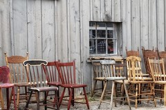 row by row (s@ssyl@ssy) Tags: vintage antique chairs old aberfoyle sunday antiquing