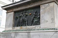 Vienna ( A bit of humour ) (Martin abz) Tags: vienna bottle carving orange roman memorial stone bronze humour tribute