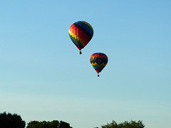Last Penny and Going Batty hot air balloons (lucre101) Tags: great falls balloon festival fun sun sunny sky blue auburn maine lewiston flying star wars america usa northeast summer last penny going batty hot air balloons river ballooning charity fund raiser booster