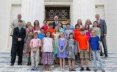 08-15-2016 Gov. Bentley meets Cullman's East Elementary World Champion Archery Team