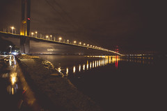 A night by the Humber (Scubastevephotos1) Tags: traffic lights nightphotography canon cloudy clouds nightsky balance longexposure night humberbridge hull
