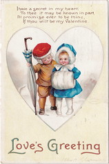 """ELLEN CLAPSADDLE CUTE VALENTINE KIDS -I HAVE A SECRET IN MY HEARD - LOVE IS IN THE AIR International Art Card Series No 2744 Postmarked 1912 (UpNorth Memories - Donald (Don) Harrison) Tags: vintage antique postcard rppc """"don harrison"""" """"upnorth memories"""" upnorth memories upnorthmemories michigan history heritage travel tourism """"michigan roadside restaurants cafes motels hotels """"tourist stops"""" """"travel trailer parks"""" campgrounds cottages cabins """"roadside entertainment"""" """"natural wonders"""" attractions usa puremichigan"""