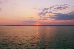 on a ship II. (sunsetsra) Tags: balaton balatonboglar balatonboglr lake hungary sky skyscape nature water waterscape sun clouds cloud sunset twilight sundown