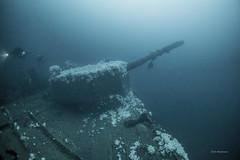 Fire! (garrelf) Tags: 2016 cmas cdtfourcault defence jutland nordsee northsea armoured cruiser battleship battlecruiser sea battle trimix gue scuba schiffswrack scenic outdoor water unterwasser underwater tauchen techdiving technical technisches wracktauchen ngc