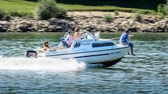 Sommerspa auf dem Rhein (Bluespete) Tags: 32143153 6322425 bewegung bluespete boot d7100 fc fluss germany nikon psi petersieling rhein rhine sommer strom wiesbaden
