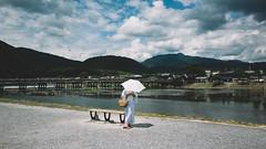 Day4 (stanley yuu) Tags: gr people kansai kyoto arashiyama woman 京都 日本 嵐山 人 女 河 渡月橋
