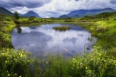Dragon's nest (haqiqimeraat) Tags: skye landscape nature amazingnature scotland isleofskye tokina 1116mm ultrawide lake green mountains hills clouds