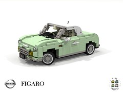 Nissan Figaro (Pike Factory - 1991) (lego911) Tags: nissan figaro pike coupe convertible 1991 1990s auto car moc model miniland lego lego911 ldd render cad povray japan japanese cute sailor moon lugnuts challenge 106 exclusiveedition exclusive limited special edition foitsop