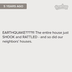 I remember this! Earthquakes aren't exactly all that common in Amish Country. #Timehop (Jenn ) Tags: ifttt instagram