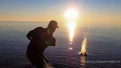 Lake Superior Evening Fun 2 (1 of 1) (amndcook) Tags: keweenaw outdoors sunset water lakesuperior michgan nature reflection rocks shoreline skippingstones splash upperpeninsula