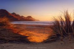 Hidden (Fernando Hueso Photography) Tags: sea seascape landscape sunrise sand mountain waves sun almeria andalucia andalusia spain espaa light