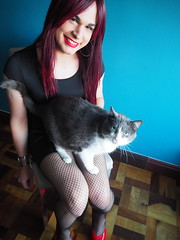 2016.06-100 (SamyOliver) Tags: samycd samyoliver samanthaoliver samy samantha dress redhead genderfluid crossdress crossdresser transformista transvestite tranny oliver brazil brazilian cat
