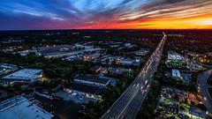 Drone Sunset (TomBerrigan) Tags: drone dji phantom woburn boston massachusetts sunset new england