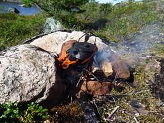 Kaffepause (Ole Husby) Tags: sooc img1669 norge norway orkdal blanka kaffe lars kaffelars coffeekettle bl openfire
