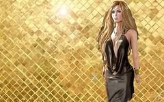 Golden chocolate (Sophia Paez) Tags: modeling modelling mesh model models avatar paez fashion kandygift poses life blog blogger bloggers sl night gold sophia sophiapaez secondlife second sexy sweet kajira neck bracelet chain baxe chocolate