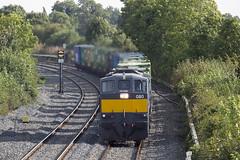 080 on Northwall-Ballina IWT liner at Kearneystown bridge 23-Sept-16 (metrovick) Tags: irishrail iarnrodeireann ie071class ie071 iwtliner iwt railroad railway railwaykildare emd emdexportloco jt22cw ie080 liner freighttrain containertrain